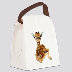 baby giraffe Canvas Lunch Bag