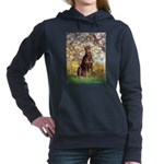 ORN-OVAL-SPRING2-DobieRed8 Hooded Sweatshirt
