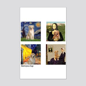 T-FamousArt-w-4-Goldens-clear Mini Poster Prin