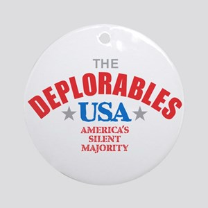 The DEPLORABLES Round Ornament