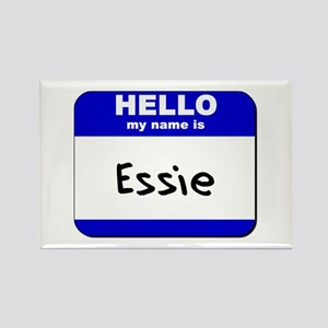 hello my name is essie Rectangle Magnet