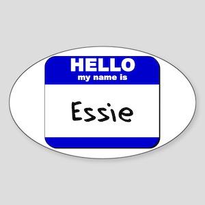 hello my name is essie Oval Sticker