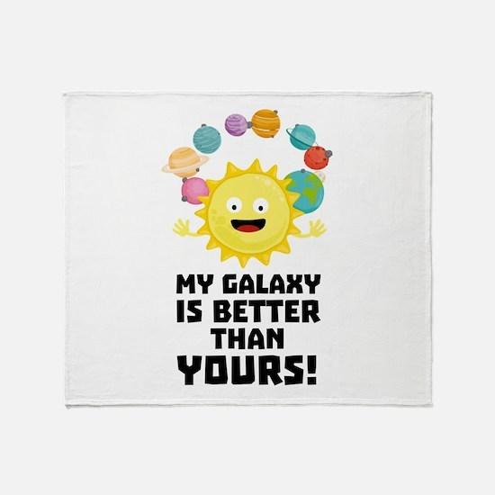 Galaxy Funny Saying Throw Blanket