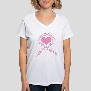 Pink Ribbon of Words T-Shirt