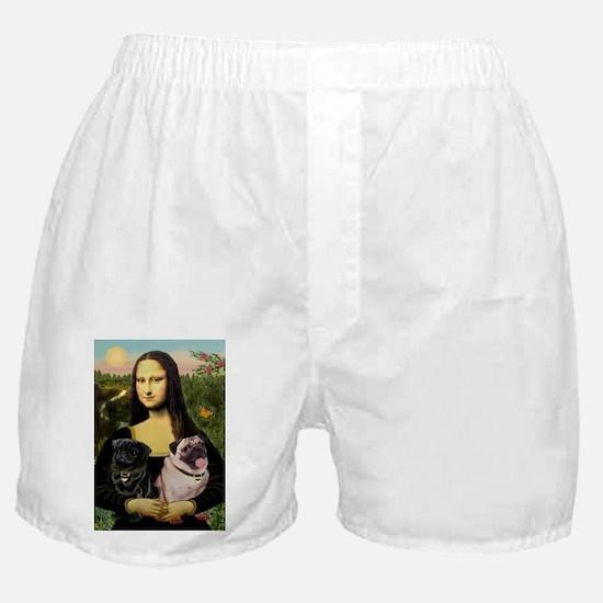 card-Mona-PugPair.png Boxer Shorts