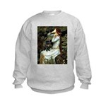 3-8x10-Oph2-PUG-Blk-C-pk Kids Sweatshirt