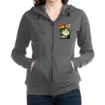 card-dancer-green-PugPR-left Zip Hoodie