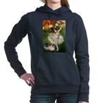 card-dancer-green-PugPR-left Hooded Sweatshirt