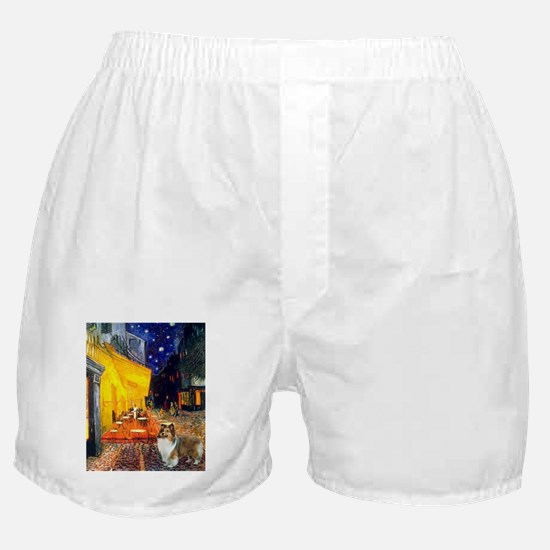810-Cafe-Sheltie2.png Boxer Shorts