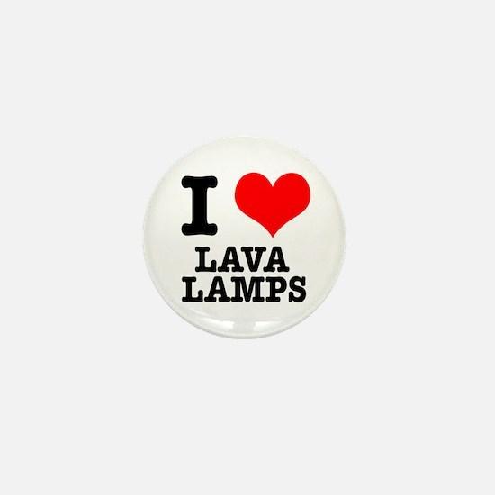 I Heart (Love) Lava Lamps Mini Button