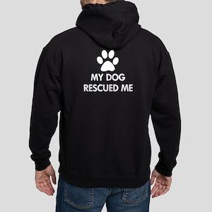 My Dog Rescued Me Hoodie (dark)