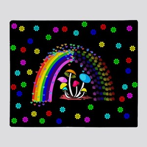 Rainbow Delights Throw Blanket