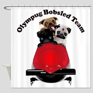 Olympug Bobsled Team Shower Curtain
