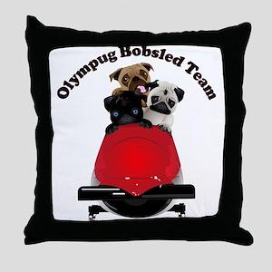 Olympug Bobsled Team Throw Pillow