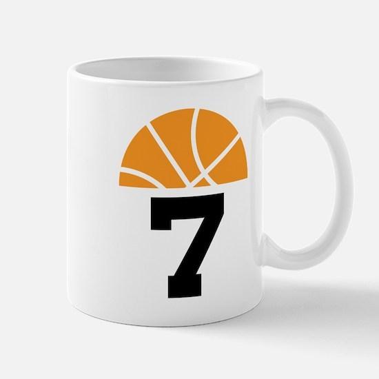Basketball Number 7 Player Gift Mug