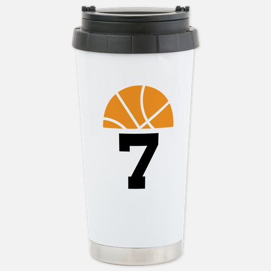 Basketball Number 7 Player Gift Stainless Steel Tr