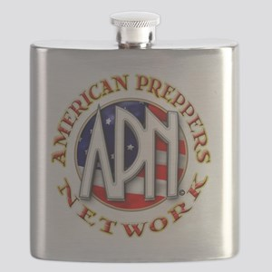 American Preppers Network Ball Logo Flask