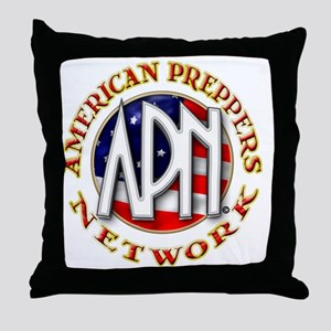 American Preppers Network Ball Logo Throw Pillow