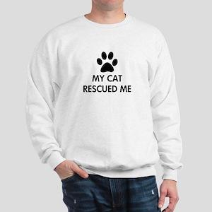 My Cat Rescued Me Sweatshirt