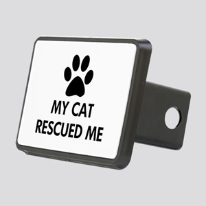 My Cat Rescued Me Rectangular Hitch Cover