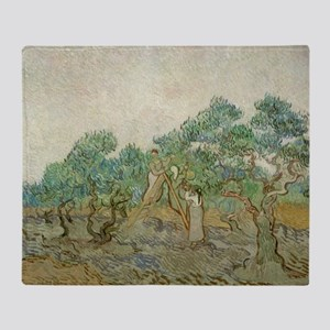 Vincent Van Gogh - The Olive Orchard Throw Blanket