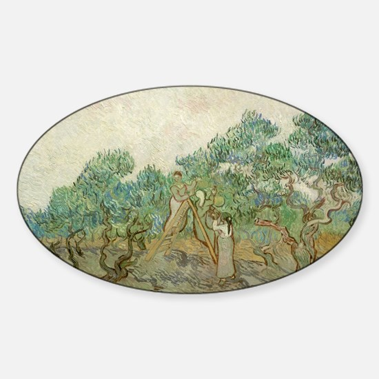 Vincent Van Gogh - The Olive Orchar Sticker (Oval)