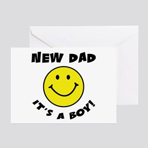 New Dad It's A Boy Greeting Cards (Pk of 10)