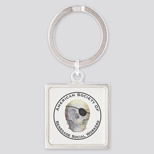 Renegade Social Workers Square Keychain