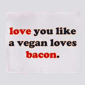 Vegan Bacon Throw Blanket