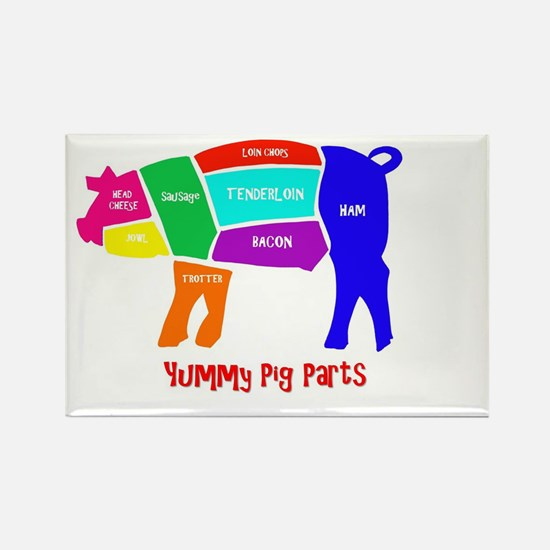 Yummy Pig Parts Magnets