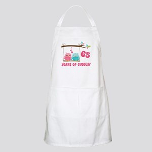 65th Anniversary Owl Couple Apron