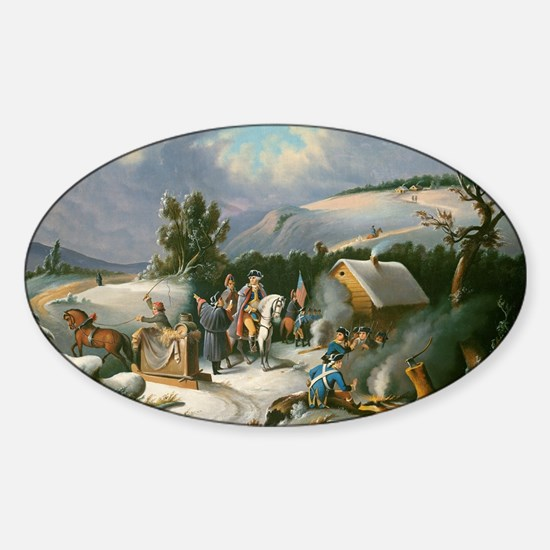 Washington at Valley Forge Sticker (Oval)