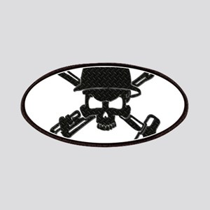 black diamond plate oilfield skull patches