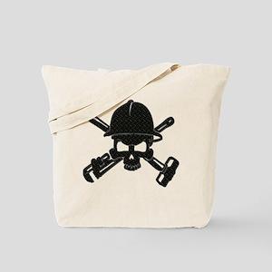 black diamond plate oilfield skull Tote Bag