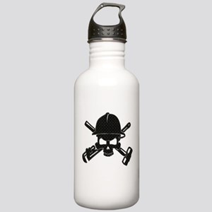 black diamond plate oilfield skull Water Bottle