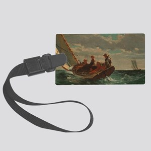 Breezing Up (A Fair Wind) Large Luggage Tag