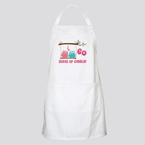 60th Anniversary Owl Couple Apron