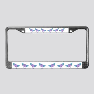 Tribal Manta License Plate Frame