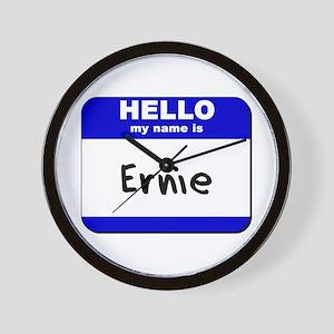 hello my name is ernie  Wall Clock