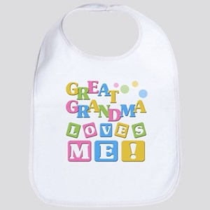Great Grandma Loves Me Baby Bib