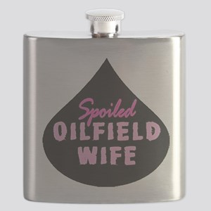 Spoiled Oilfield Wife Oil Drop Pink Flask