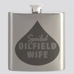 Spoiled Oilfield Wife Oil Drop Flask