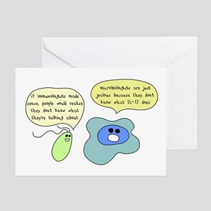 Microbiology Vs Immunology Greeting Cards (Package