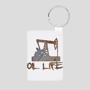 Oil Life Pumpjack Rusty Metal Keychains