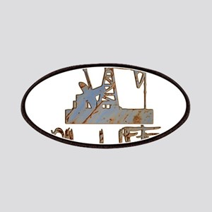 Oil Life Pumpjack Rusty Metal Patches