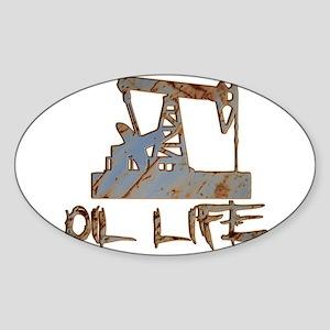 Oil Life Pumpjack Rusty Metal Sticker