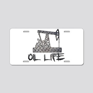 Diamond Plate Oil Life Pumpjack Aluminum License P