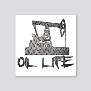 Diamond Plate Oil Life Pumpjack Sticker