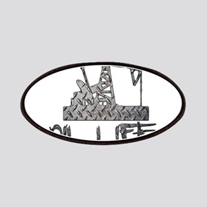 Diamond Plate Oil Life Pumpjack Patches