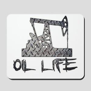 Diamond Plate Oil Life Pumpjack Mousepad